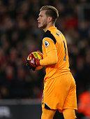 southampton england liverpool goalkeeper loris karius