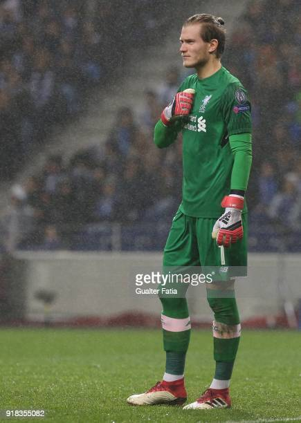 Liverpool goalkeeper Loris Karius from Germany in action during the UEFA Champions League Round of 16 First Leg match between FC Porto and Liverpool...