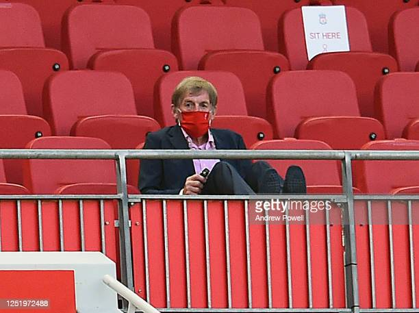 Liverpool hero Kenny Daglish Looks On during the Premier League match between Liverpool FC and Crystal Palace at Anfield on June 24 2020 in Liverpool...