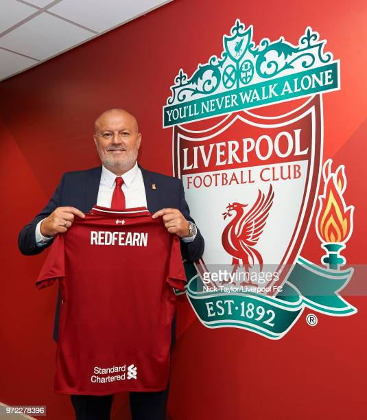 Liverpool Ladies new manager Neil Redfearn is unveiled at Anfield on June 8 2018 in Liverpool England