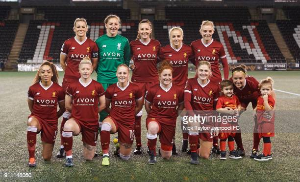 Liverpool Ladies team to face Bristol City Women during the Liverpool Ladies v Bristol City Women WSL game at Select Security Stadium on January 27...