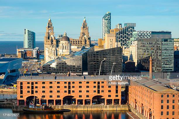 liverpool landmarks, england - merseyside stock pictures, royalty-free photos & images