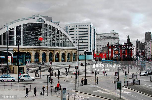 CONTENT] Liverpool Lime Street Station and surrounding streets in the City of Liverpool UK