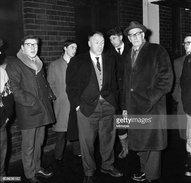 Liverpool manager Bill Shankly looks a frustrated figure after refereeGeorge McCabe called off the upcoming FA Cup fourth round replay match against...