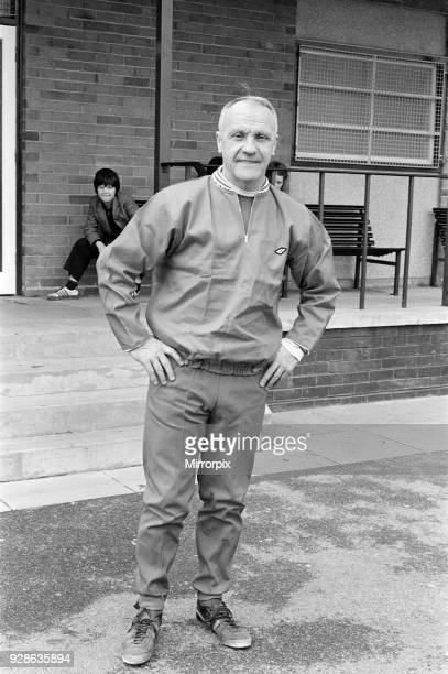 Liverpool manager Bill Shankly takes charge of a training session as the team are recalled for preseason training at Melwood, 11th July 1972.