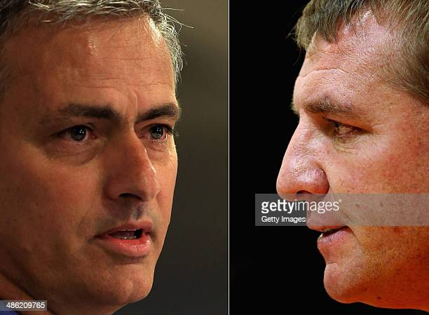 IMAGES Image Numbers 170285666 and 153306519 In this composite image a comparison has been made between Chelsea manager Jose Mourinho and Brendan...