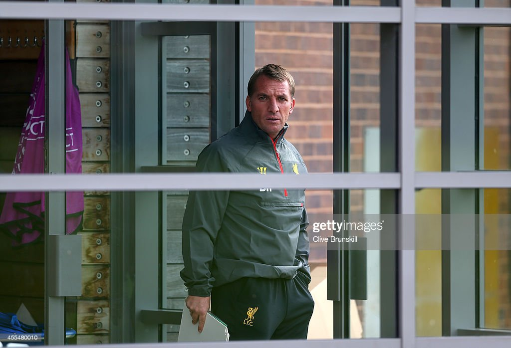 Liverpool manager Brendan Rodgers gets ready to leave the teams Melwood headquarters to take Liverpool's first Champions League open training session for 5 years ahead of their UEFA Champions League group B match against PFC Ludogorets on September 15, 2014 in Liverpool, United Kingdom.