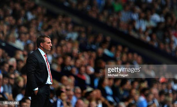 Liverpool manager Brendan Rodgers looks on during the Barclays Premier League match between West Bromwich Albion and Liverpool at The Hawthorns on...