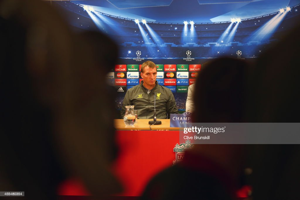 Liverpool manager Brendan Rodgers talks to the media during a press conference ahead of their UEFA Champions League group B match against PFC Ludogorets on September 15, 2014 in Liverpool, United Kingdom.