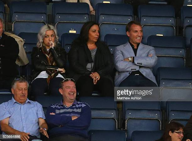 Liverpool manager Brendan Rodgers watches his son Anton Rodgers of Oldham Athletic in the Johnstones Paint Trophy match Shrewsbury Town v Oldham...