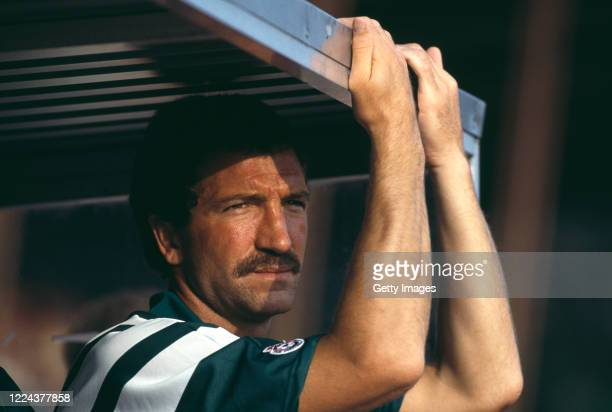 Liverpool manager Graeme Souness looks on from the dugout during a pre season match prior to the 1991/92 First Division season.