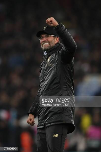 Liverpool manager head coach Jurgen Klopp during the UEFA Champions League Group C match between Liverpool and SSC Napoli at Anfield on December 11...