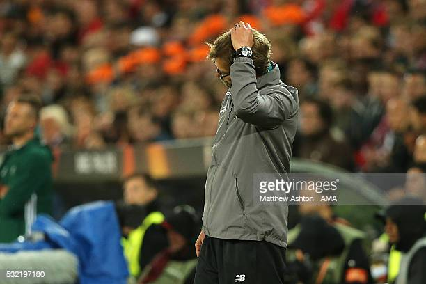 Liverpool Manager / Head Coach Jurgen Klopp reacts during the UEFA Europa League Final between Liverpool and Sevilla at St JakobPark on May 18 2016...