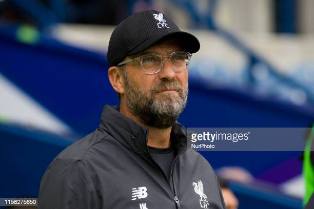 Liverpool manager Jurgen Klopp before the preseason friendly match between Liverpool and Napoli at BT Murrayfield on July 28 2019 in Edinburgh...