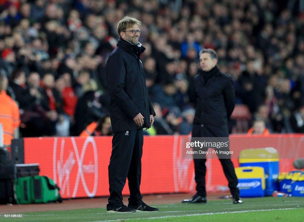 Southampton v Liverpool - EFL Cup - Semi Final - First Leg - St Mary's Stadium : News Photo