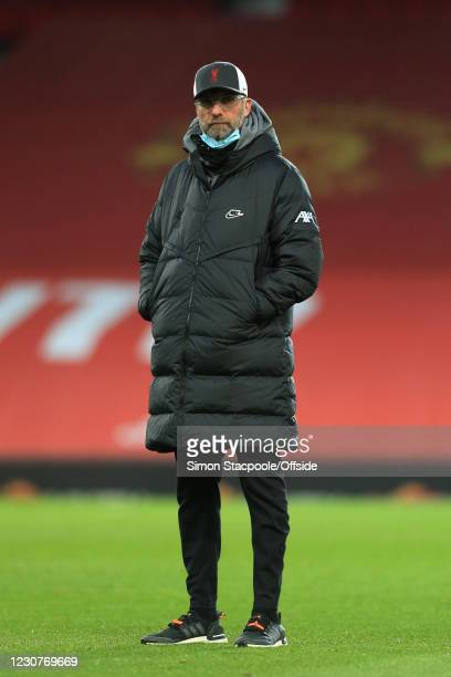 Liverpool manager Jurgen Klopp during The Emirates FA Cup Fourth Round match between Manchester United and Liverpool at Old Trafford on January 24,...