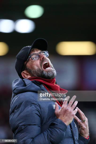 Liverpool manager Jurgen Klopp during the Premier League match between AFC Bournemouth and Liverpool FC at Vitality Stadium on December 7 2019 in...