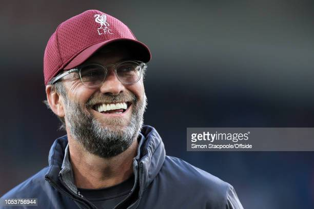 Liverpool manager Jurgen Klopp laughs and smiles during the Premier League match between Huddersfield Town and Liverpool at the John Smith's Stadium...