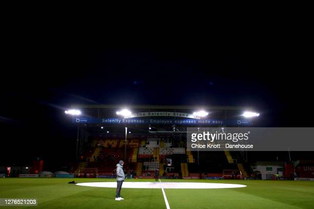 Liverpool Manager Jurgen Klopp looks on during warm up during the Caraboa Cup Third Round match between Lincoln City FC and Liverpool FC at LNER...