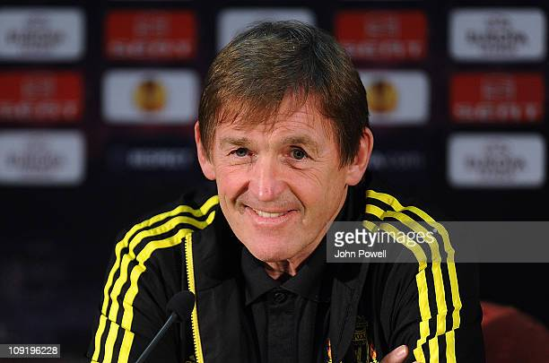 Liverpool manager Kenny Dalglish during a press conference ahead of their UEFA Europa League round of 32 first leg match against Sparta Prague at...
