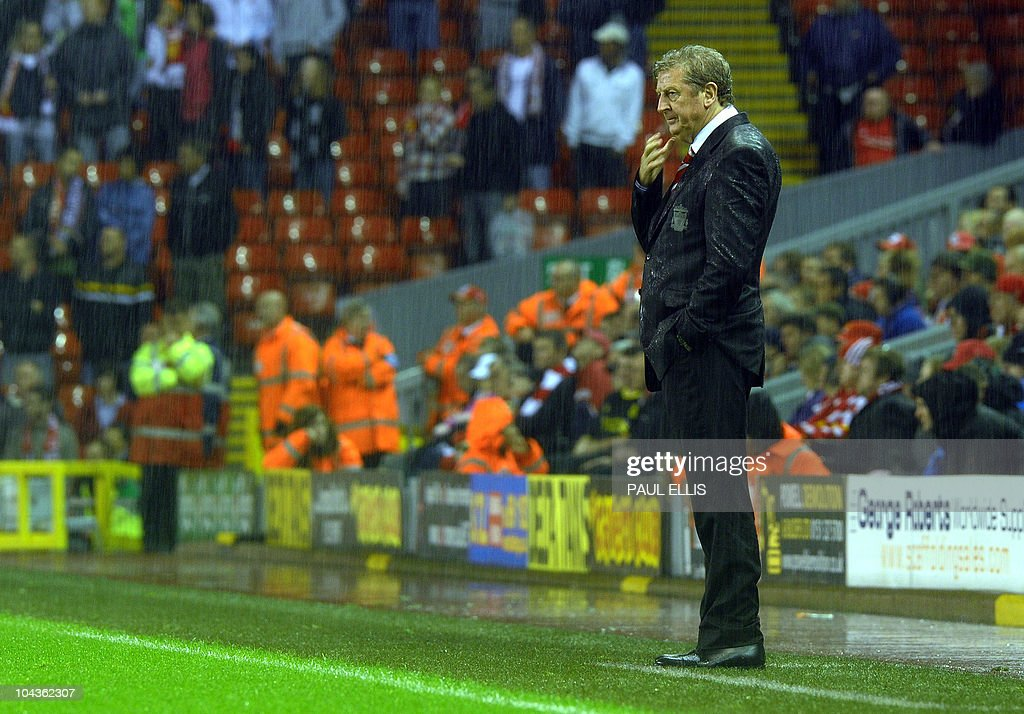 Liverpool Manager Roy Hodgson stands in : News Photo