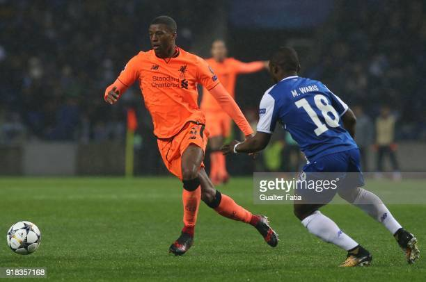 Liverpool midfielder Georgina Wijnaldum from Netherland in action during the UEFA Champions League Round of 16 First Leg match between FC Porto and...