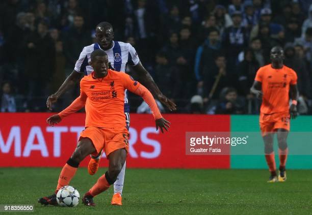Liverpool midfielder Georgina Wijnaldum from Netherland with FC Porto forward Moussa Marega from Mali in action during the UEFA Champions League...