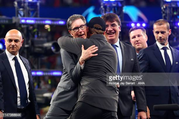 Liverpool owner John Henry hugs Liverpool Head Coach / Manager Jurgen Klopp at the end of the UEFA Champions League Final between Tottenham Hotspur...