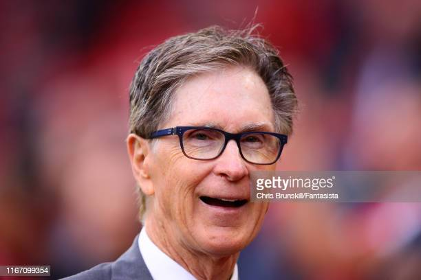 Liverpool owner John Henry looks on during the Premier League match between Liverpool FC and Norwich City at Anfield on August 09, 2019 in Liverpool,...