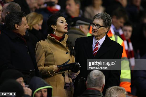Liverpool owner John W Henry and his wife Linda Pizzuti Henry
