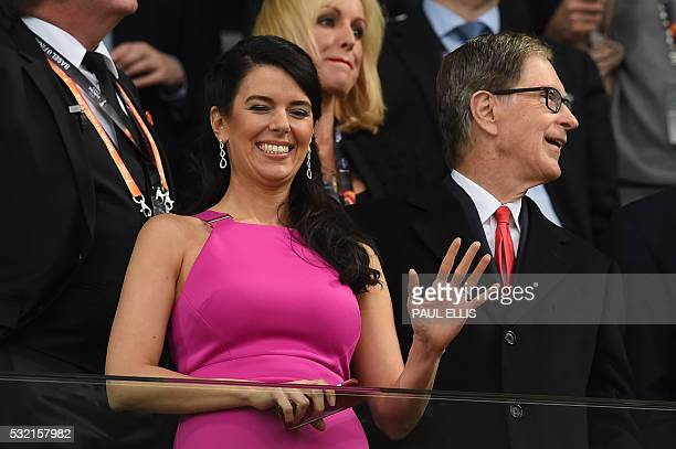 Liverpool owner US businessman John W Henry and his wife Linda Pizzuti Henry attend the UEFA Europa League final football match between Liverpool FC...