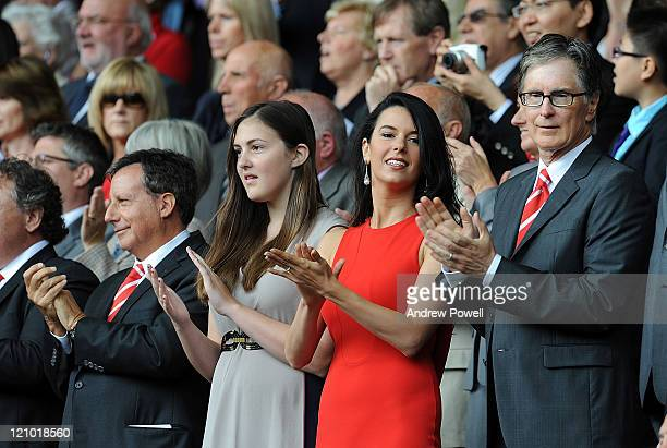 Liverpool owners Tom Werner and John W Henry during the Barclays Premier League match between Liverpool and Sunderland at Anfield on August 13 2011...