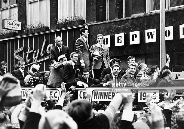 Liverpool parade the FA Cup through the streets of the City after their victory over Leeds United in the FA Cup Final at Wembley Stadium in London...
