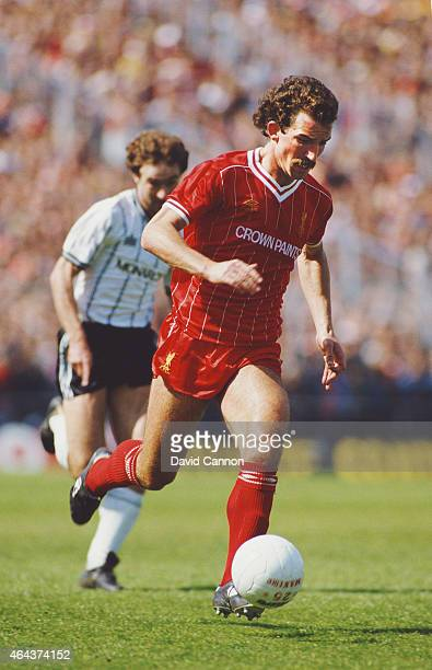 Liverpool player Graeme Souness in action during a League Division match between Notts County and Liverpool at Meadow Lane on May 12 1984 in...