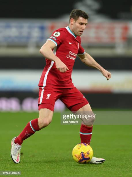 Liverpool player James Milner in action during the Premier League match between Newcastle United and Liverpool at St. James Park on December 30, 2020...