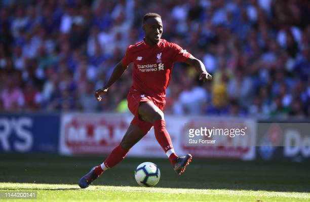 Liverpool player Naby Keita in action during the Premier League match between Cardiff City and Liverpool FC at Cardiff City Stadium on April 21, 2019...
