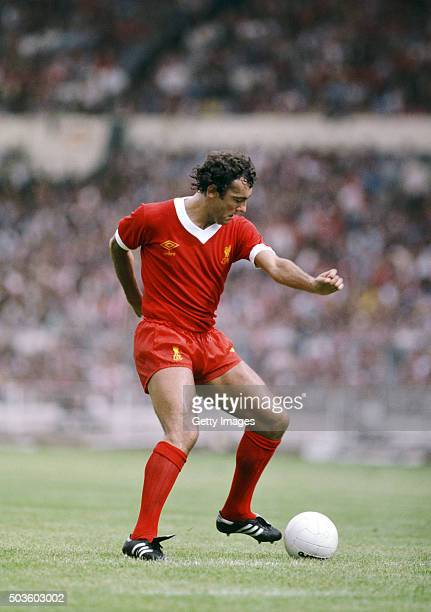 Liverpool player Ray Kennedy in action during the 1979 FA Charity Shield match between Arsenal and Liverpool at Wembley Stadium on August 11 in...