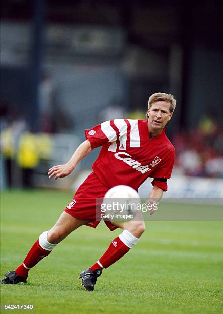 Liverpool player Ronnie Whelan in action during a match against Luton Town at Kenilworth Road on August 24 1991 in Luton England