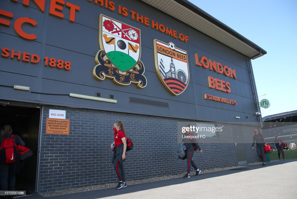 London Bees v Liverpool Women: FA WSL 2 : Nachrichtenfoto