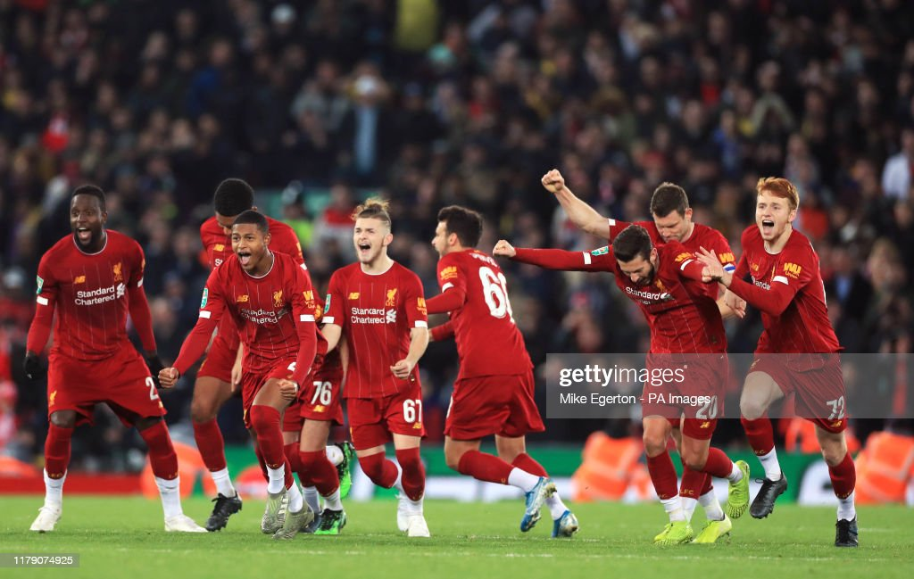 Liverpool v Arsenal - Carabao Cup - Fourth Round - Anfield : News Photo