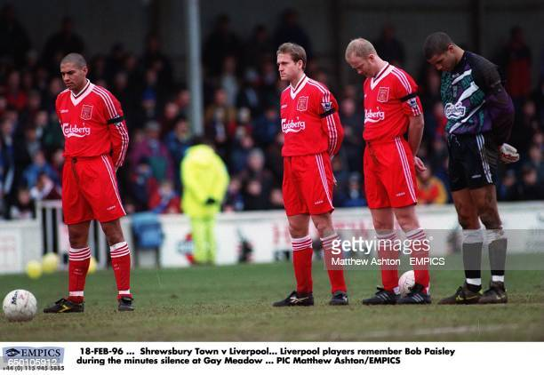 Liverpool players Stan Collymore John Scales Mark Wright David James remember Bob Paisley during the minutes silence
