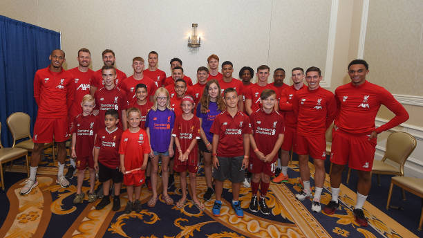 IN: Liverpool Players Visit Local Schoolchildren In The Morris Inn Hotel