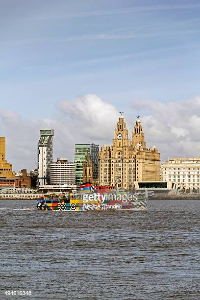 liverpool skyline - ferry stock photos and pictures