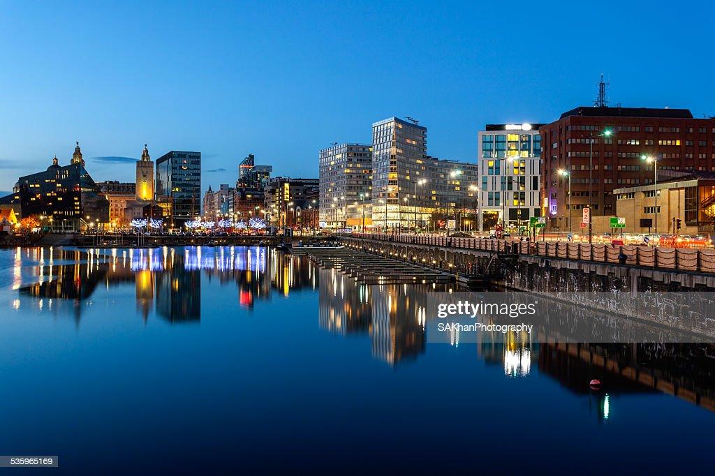 Liverpool skyline : Stock Photo