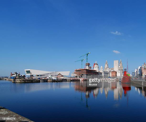 Liverpool skyline with construction of the new museum