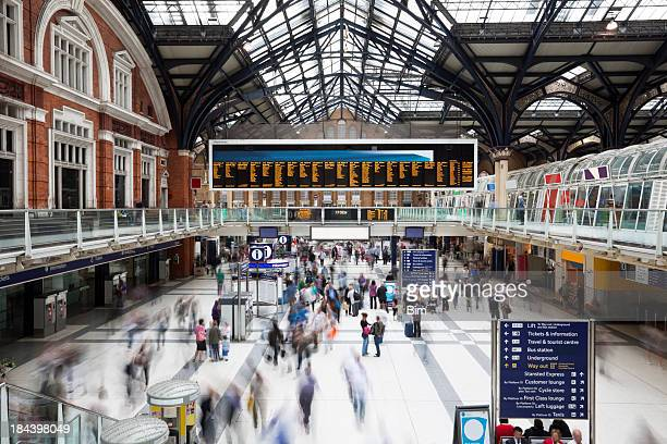Liverpool Street Station at Rush Hour, Motion Blur, London, UK