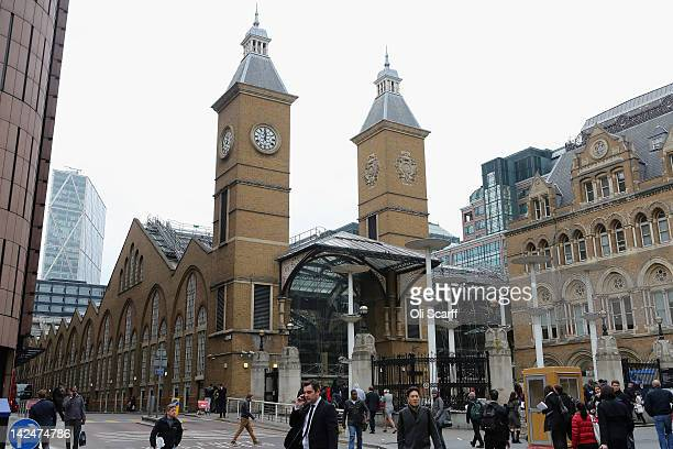 Liverpool Street Station which features on the London version of the Monopoly board game on April 5 2012 in London England