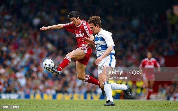 Liverpool striker Ian Rush in action during a League Division One match between Liverpool and Queens Park Rangers at Anfield on April 28 1990 in...