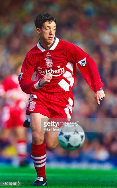 Liverpool striker Robbie Fowler in action during an FA Premier League match between Liverpool and Aston Villa at Anfield on October 8 1994 in...