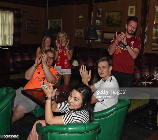Liverpool supporters attend a meet and greet with Detroit Liverpool Supporter Club in Ann Arbor Michigan